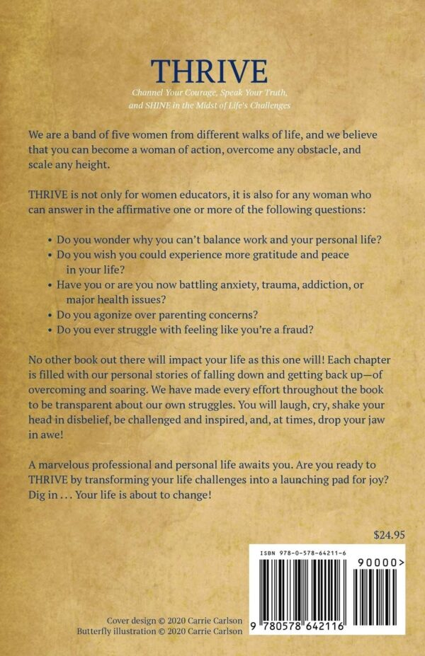 THRIVE Book Back Cover